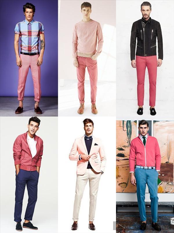 Bst nam cá tính với màu hồng