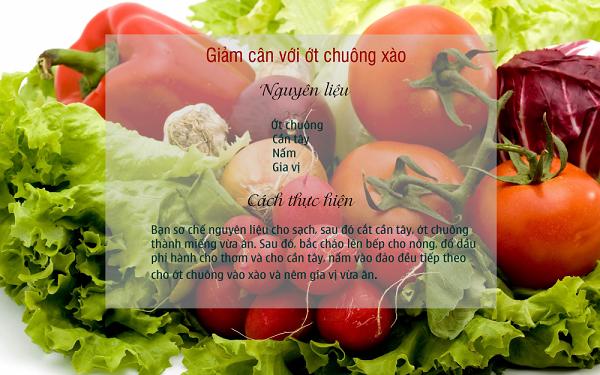 Giảm cân nhanh chóng bằng ớt chuông