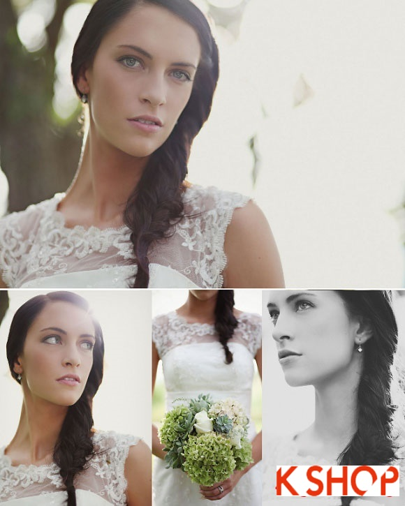 Kiểu tóc tết quyến rũ ngày cưới cho cô dâu 2016