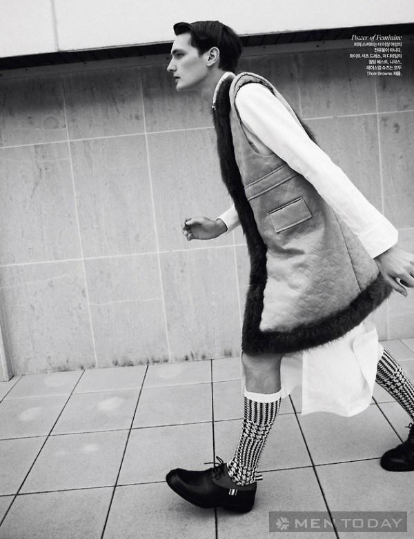 nổi loạn như quý ông trên tạp chí harpers bazaar man korea