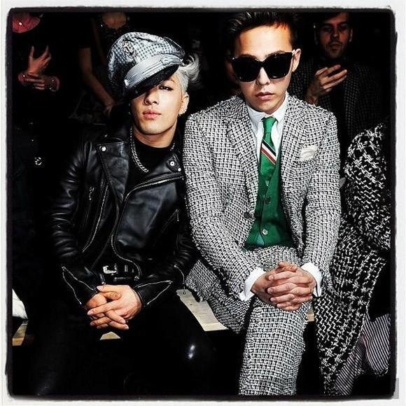 Phong cách 'chất lừ' của Taeyang vs G-Dragon tại Paris