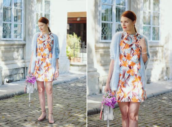 Váy hoa hàn quốc duyên dáng cho nàng công sở