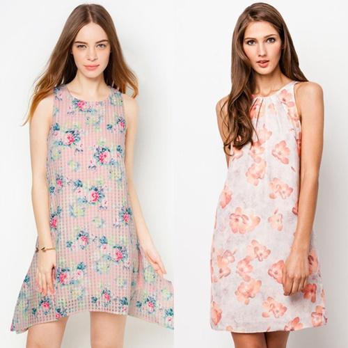Váy hoa duyên dáng cuốn hút dành cho nàng công sở