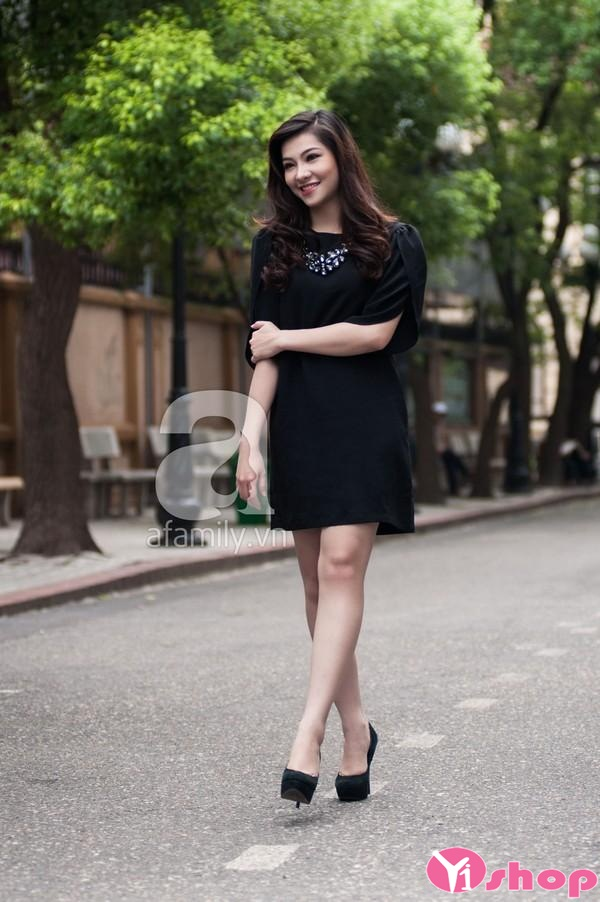 Váy đầm suông có tay đẹp cho nàng công sở mập lùn thêm tự tin