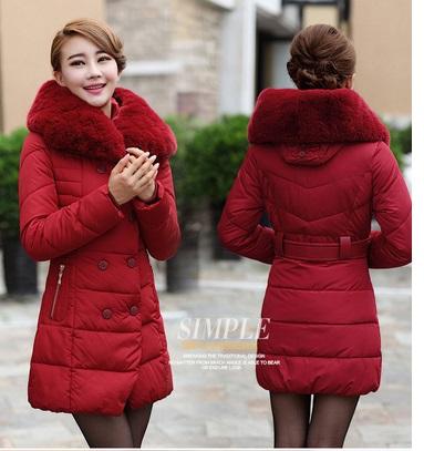 Áo khoác phao nữ cổ lông cho nàng xinh xắn ngày đông