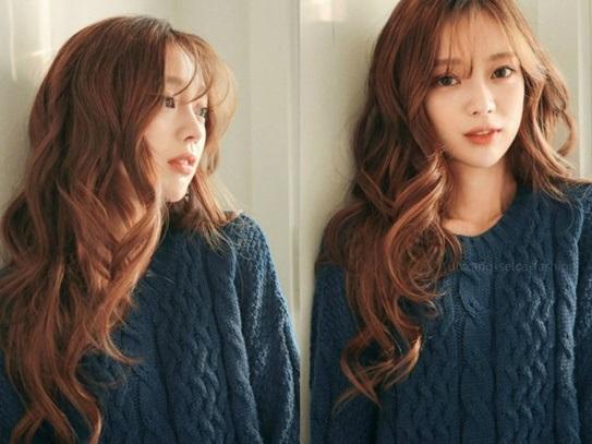 Những kiểu tóc dài hợp với khuôn mặt tròn