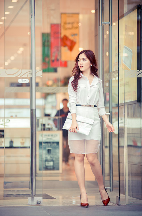 Áo sơ mi nữ trắng đẹp hợp phong cách nàng công sở