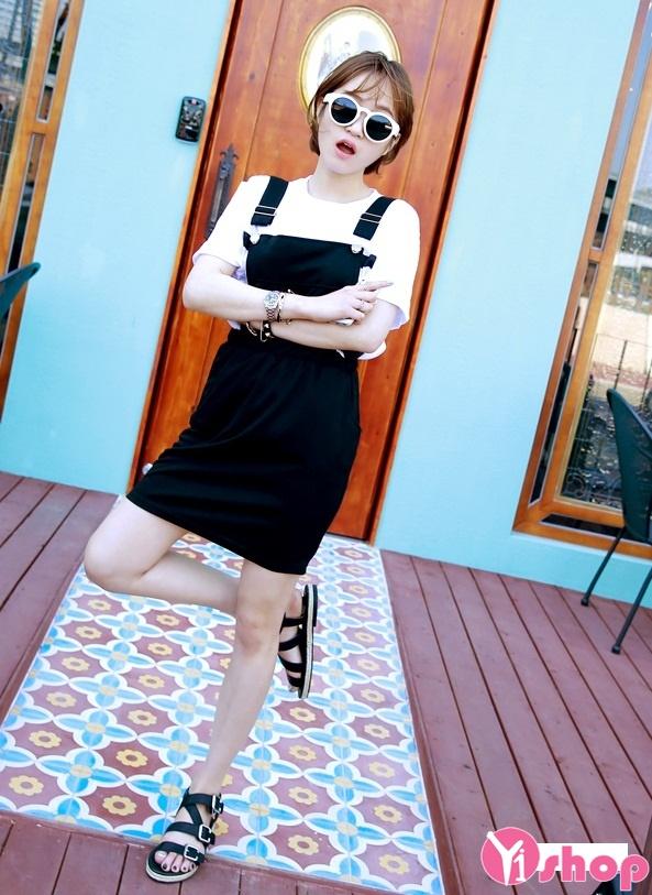 Váy yếm hàn quốc cho nàng dễ thương xinh xắn ngày hè