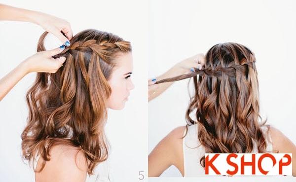 Cách tết tóc thác nước đẹp bạn gái mái tóc dài trong vòng 1 nốt nhạc