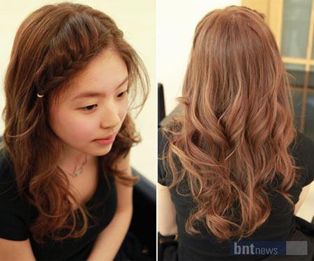 Kiểu tóc tết mái viền phong cách hàn quốc dễ thương
