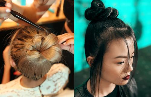 Những mẫu tóc búi tự nhiên trong show của đỗ mạnh cường