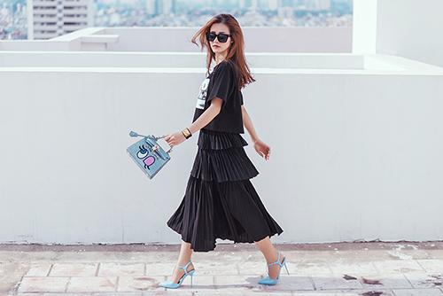 tuyệt chiêu mix chân váy điệu nghệ như sao việt
