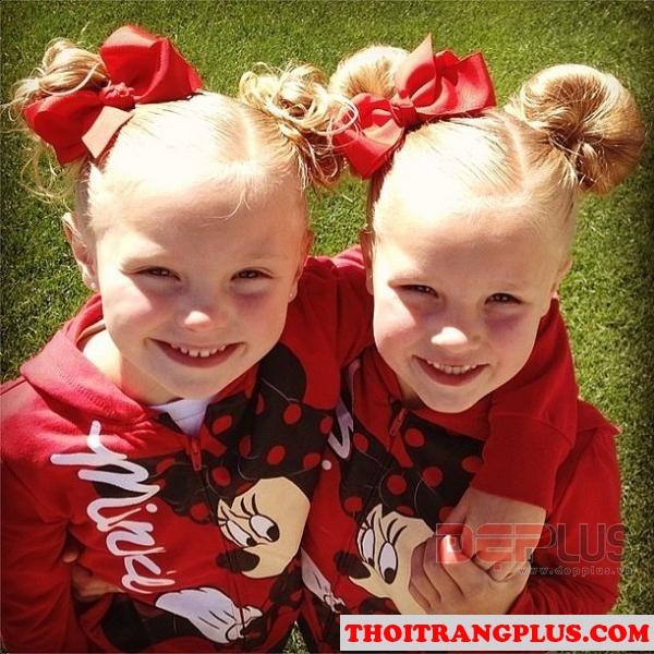 12 kiểu tóc dễ thương xinh xắn cho các bé yêu
