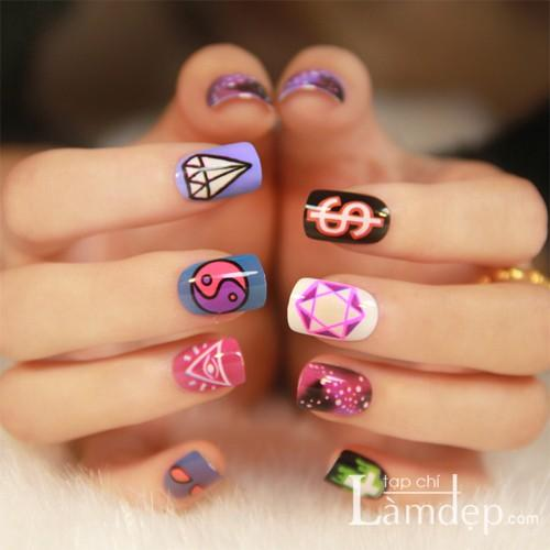 15 mẫu nail họa tiết đẹp cực kute dễ thương