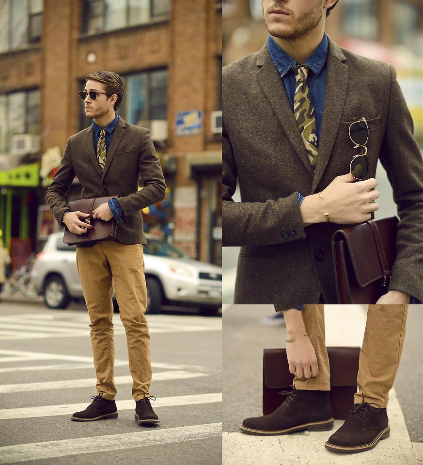 Áo sơ mi denim phong cách cực hot cho bạn nam dạo phố