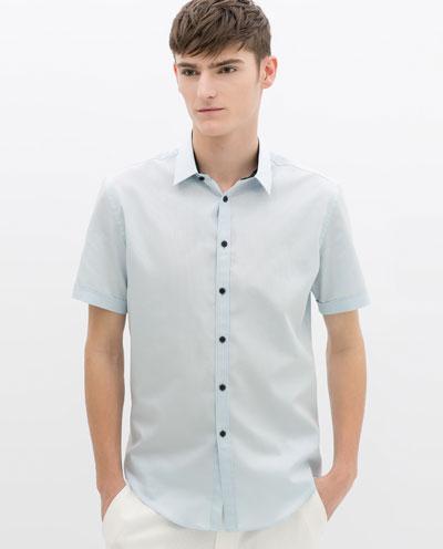 Áo sơ mi nam màu xanh cho chàng trai công sở tươi mát