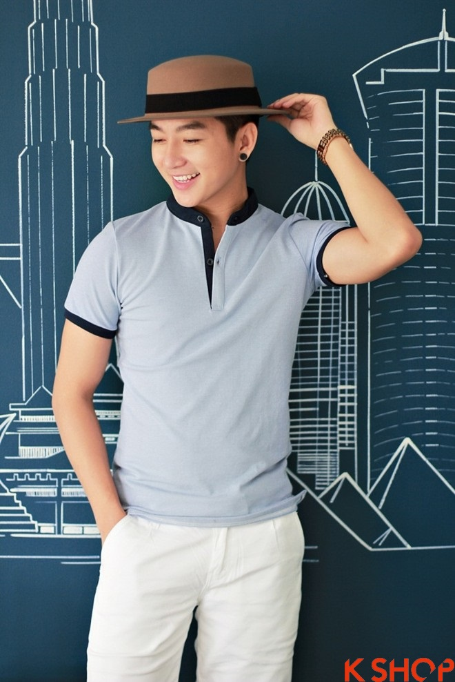 Áo thun nam đẹp thời trang giúp phái mạnh trẻ trung cuốn hút