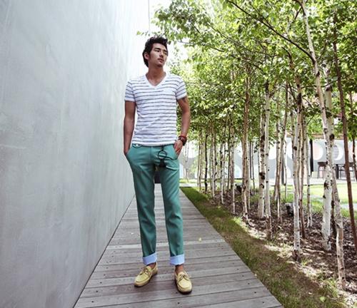 Áo thun pull nam hàn quốc đẹp cho chàng nổi bật cá tính mùa hè 2017