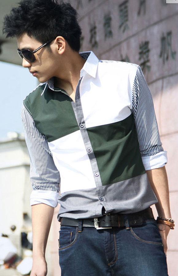 Dạo phố sành điệu với áo sơ mi nam hàn quốc