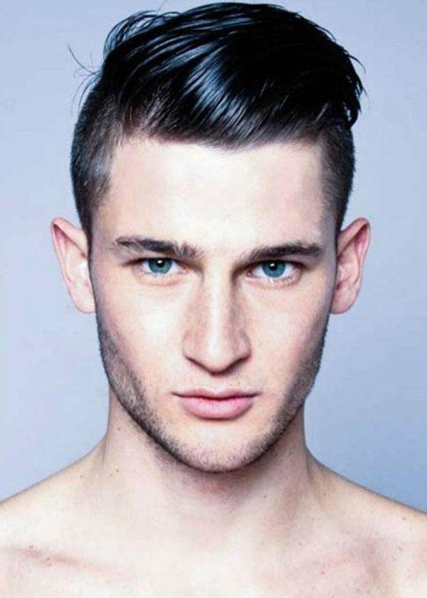 Kiểu tóc nam chải ngược cho chàng mặt tròn bảnh bao