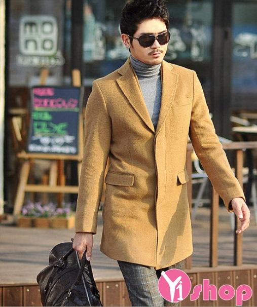 Ngày đông ấm áp với áo khoác nam măng tô