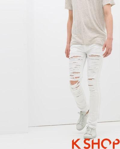 Quần jeans rách nam phá cách cho chàng xuống phố