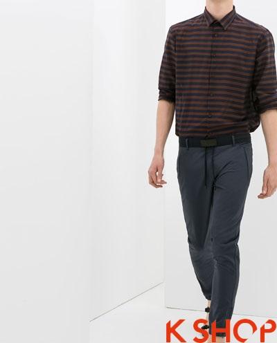 Quần sweatpants nam ống bó phá cách thời trang xuống phố