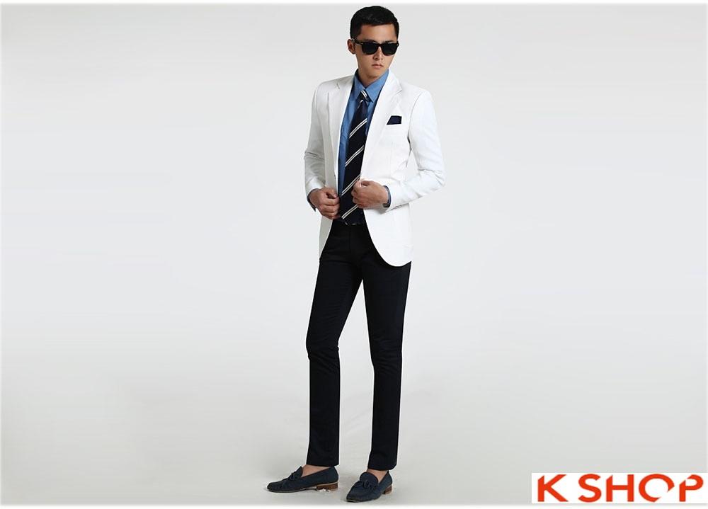 Quý ông phong cách với áo vest nam trắng