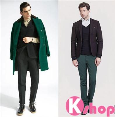 Xu hướng thời trang nam 2017 với màu xanh lục bảo
