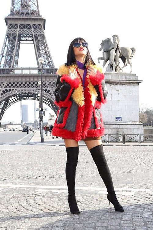 BST thời trang áo khoác không phải ai cũng dám thử của Rihanna