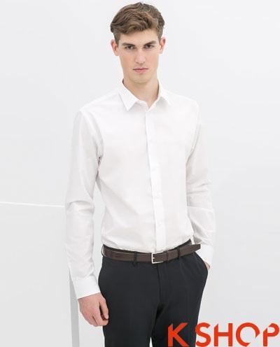 Áo sơ mi nam trắng đẹp hè 2017 giành cho chàng công sở