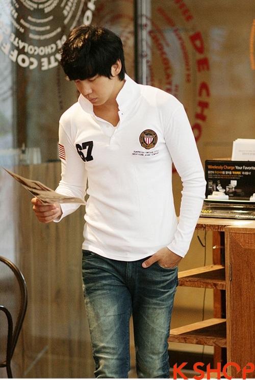 Áo phông polo nam dài tay đẹp cho teenboy cá tính năng động