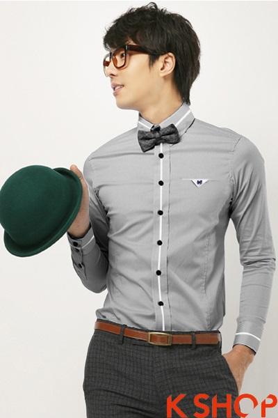 Mix áo sơ mi nam đẹp như cho chàng sành điệu năm 2017
