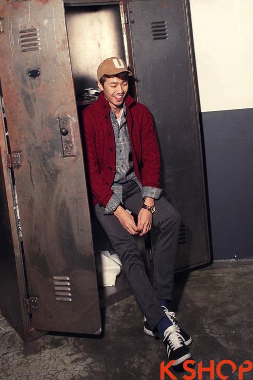Áo khoác nam cardigan mang lại sự ấm áp cho chàng