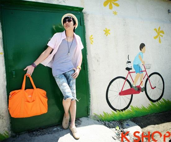 Áo sơ mi nam ngắn phong cách mạnh mẽ hè 2017