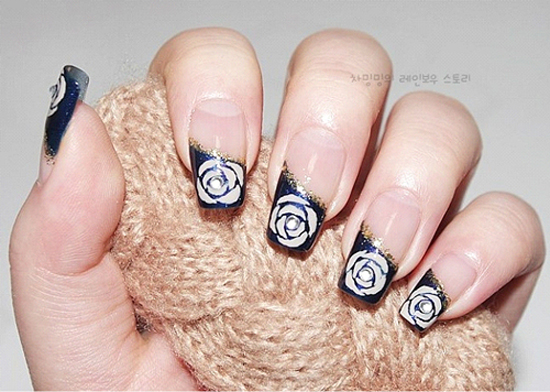 Mẫu móng tay nail hình hoa đẹp cho mùa hè 2018 cực dễ thương