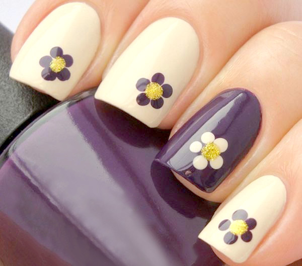 Mẫu nail hình hoa đẹp cho mùa hè 2017 cực dễ thương quyến rũ