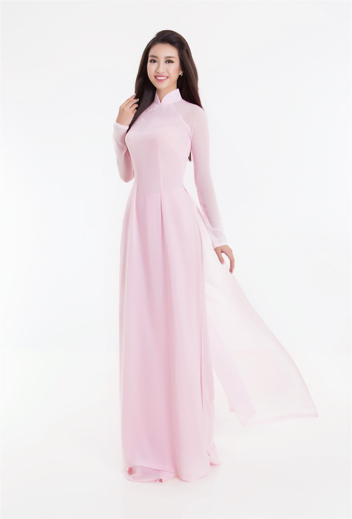 Top 3 hoa hậu việt nam 2016 duyên dáng áo dài pastel