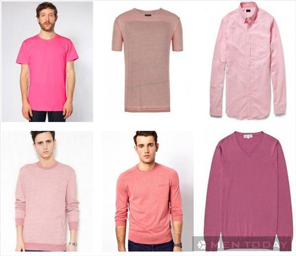 Phối đồ nam đa phong cách với trang phục mang sắc hồng