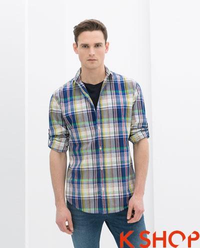 Xu hướng thời trang hè 2017 với áo sơ mi nam sọc kẻ caro