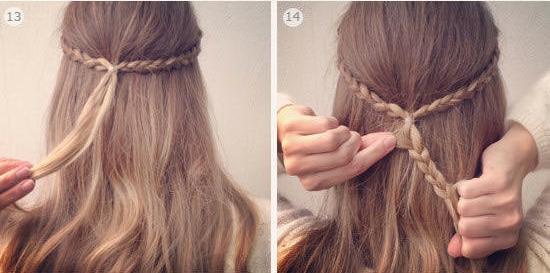 Cách tết tóc nữ hình hoa mai dễ làm cho bạn nữ