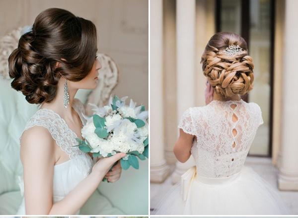 Kiểu tóc búi thấp cho nàng xinh xắn trong ngày cưới