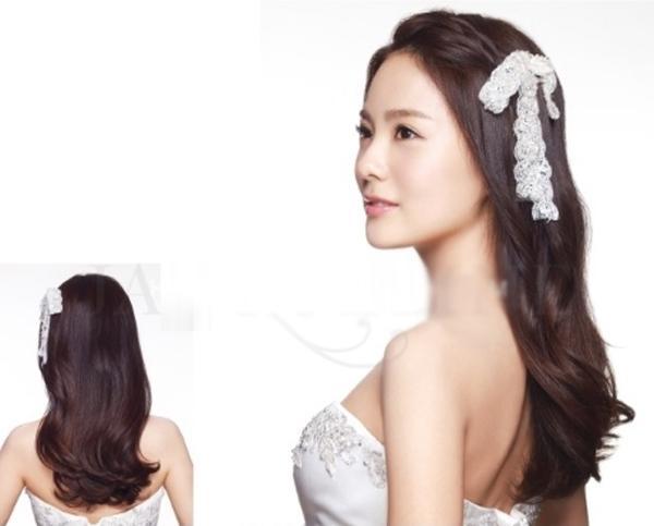 Những mẫu tóc cô dâu đẹp đơn giản quyến rũ 2017