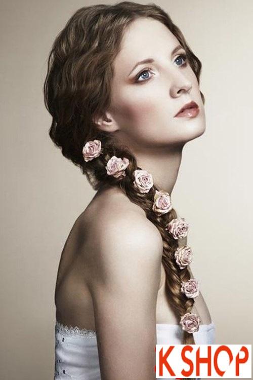Kiểu tóc giúp cô dâu nổi bật duyên dáng ngày cưới