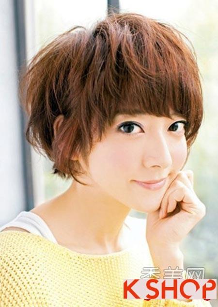 Những kiểu tóc ngắn đẹp cho bạn gái có khuôn mặt tròn