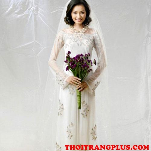 Tóc cô dâu đẹp hợp với áo dài cưới truyền thống việt nam