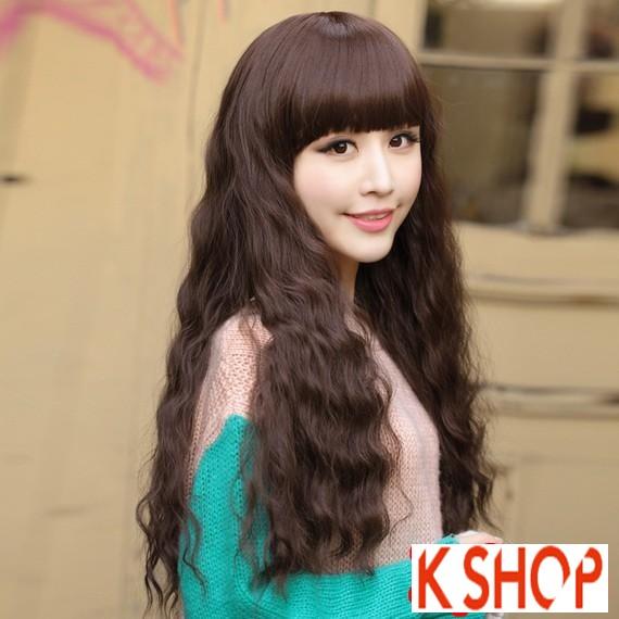 Tóc xoăn dài dễ thương được giới trẻ ưa chuộng