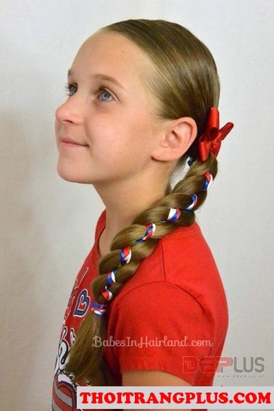 12 kiểu tóc đẹp dễ thương xinh xắn cho các bé yêu