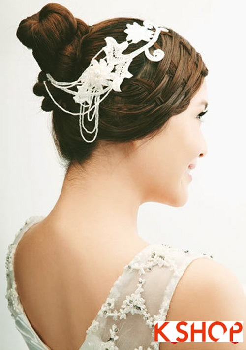 Kiểu tóc tết cô dâu đẹp lãng mạn cho ngày cưới