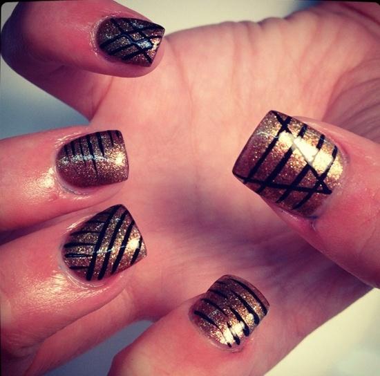 13 mẫu nail kẻ sọc hàn quốc đẹp 2017 cho nàng cá tính ấn tượng